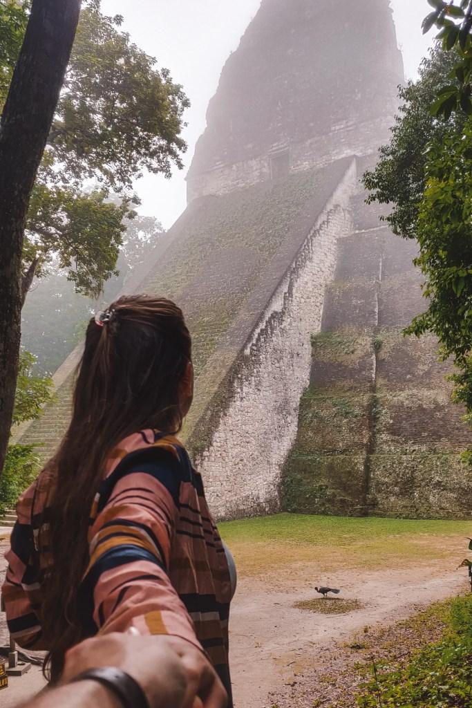 Maya-tempel Tikal | Maya tempel | Flores | Guatemala | De oranje rugzak