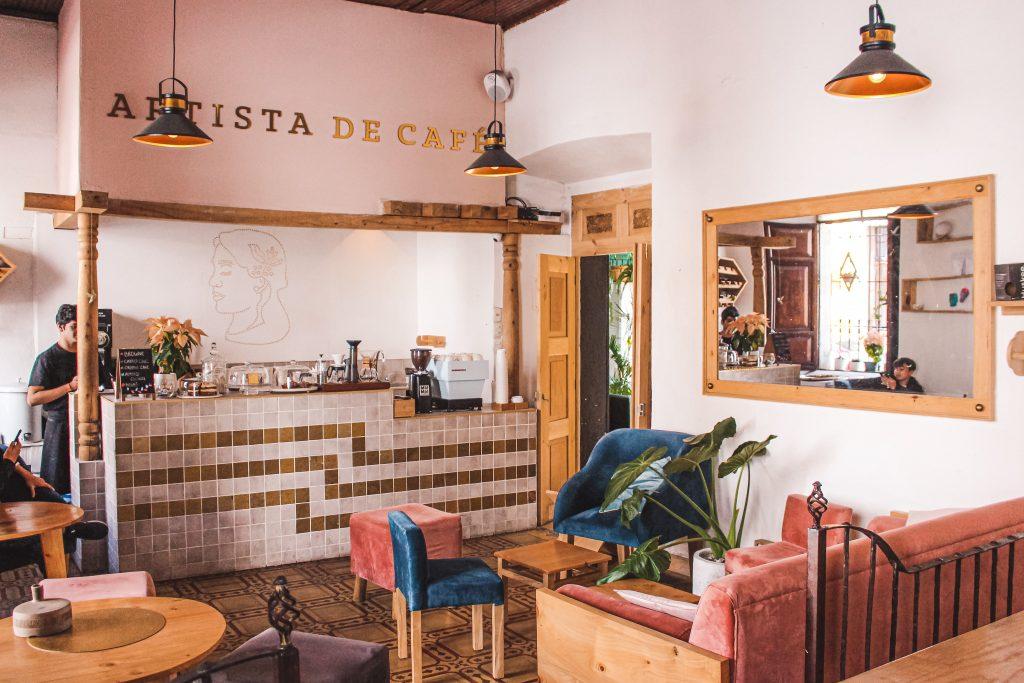 Antigua Guatemala Artista Cafe best Coffee