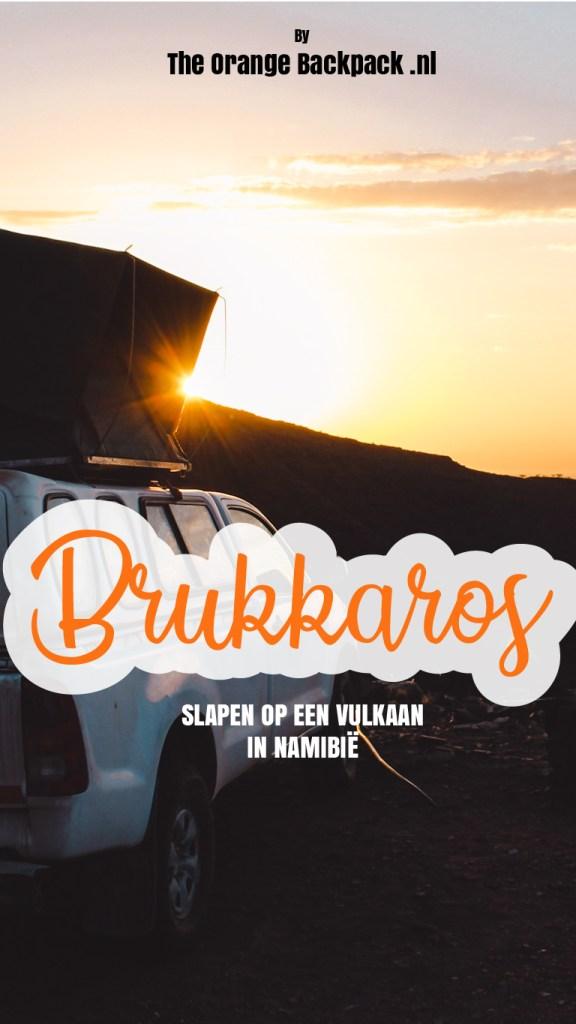 Brukkaros kamperen op vulkaan Namibie