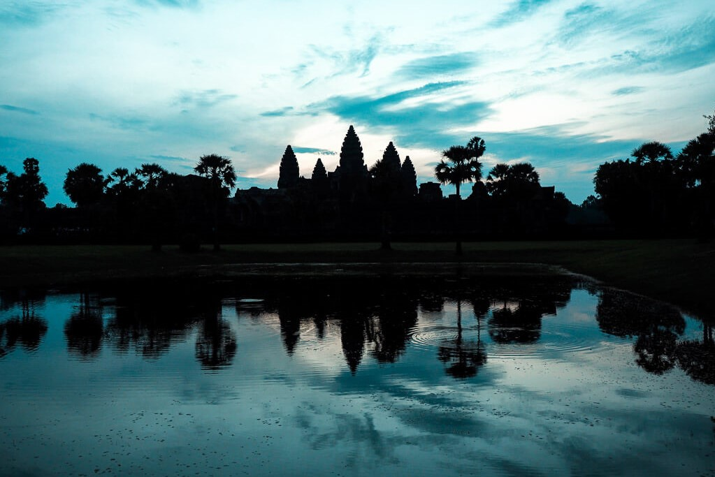 Lost city Angkor Wat in Cambodia by Emily Lush