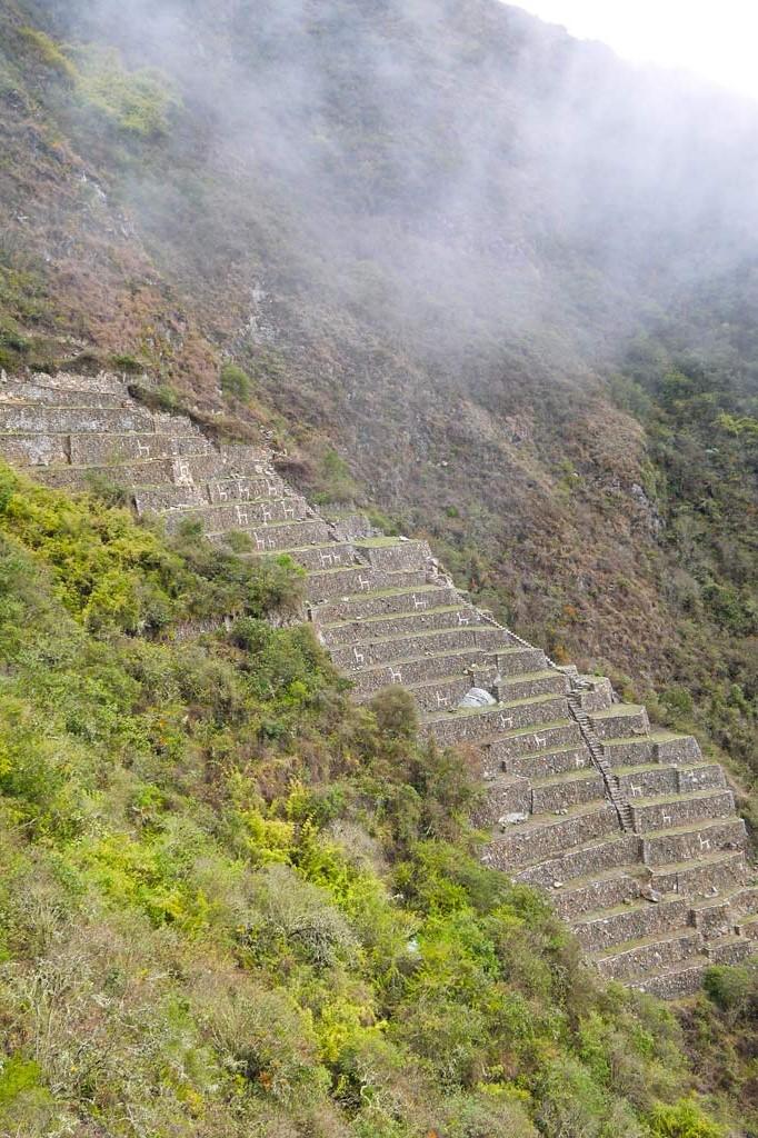 Verloren stad Choquequirao Bovenste ruïnes