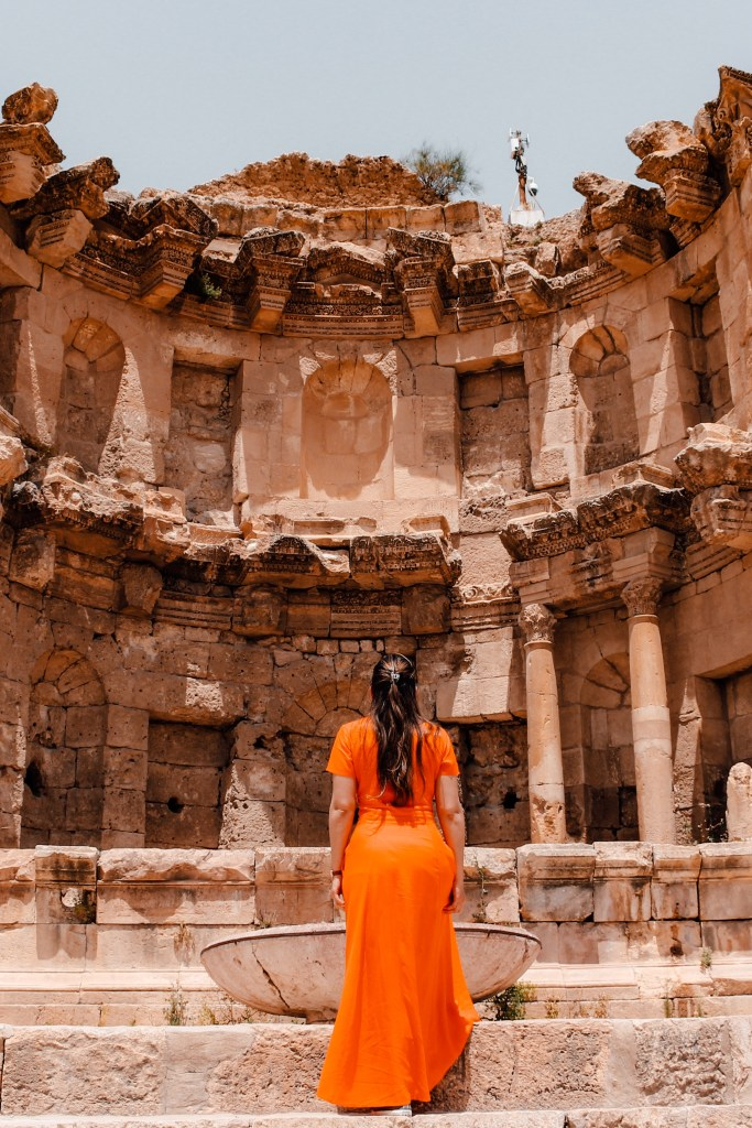 Lost city Jerash in Jordan