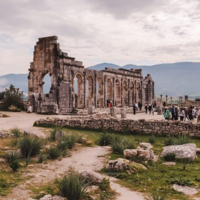 Lost city ancient Roman ruins Volubilis Morocco