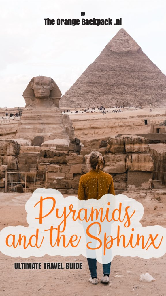 Pyramids and the Sphinx in Egypt The Orange Backpack