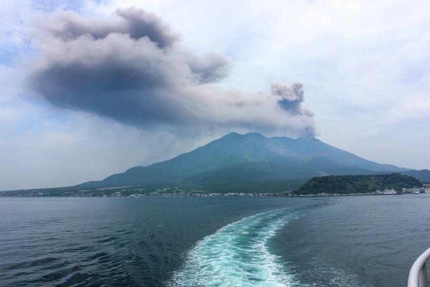 Sakurajima-vulkaan in Kagoshima