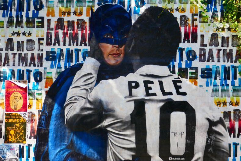 São Paulo street art Batman Alley