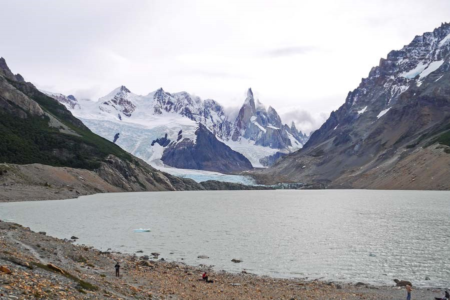 best hikes in Patagonia Argentina - laguna-torre at the base of Cerro torre