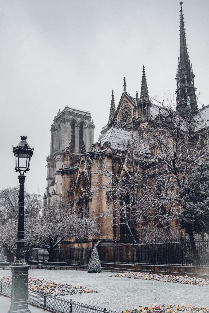 Paris in winter European city trip