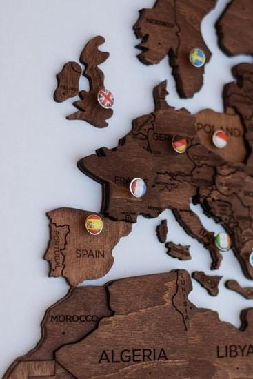 Houten wereldkaart - Beste cadeaus voor reizigers