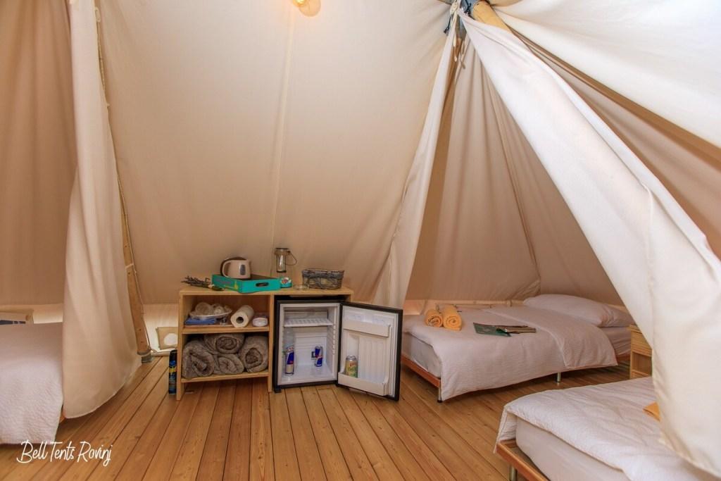 Airbnb Kroatie Rovinj glampingtenten
