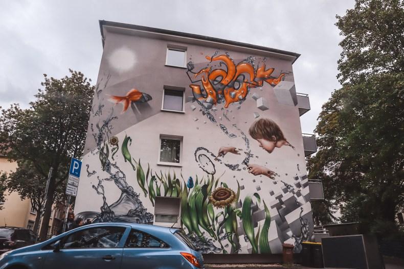 Street art Kassel Germany | Stephen Hawkings Goldfish