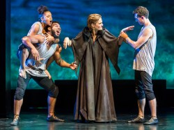 Jade Payton, Blake Morris, Rosie Brownlow, and Joshua Odess-Rubin in Metamorphoses Photos by Paul R. Kennedy