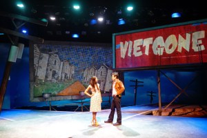 "South Coast Repertory presents the world premiere of ""Vietgone"" by Qui Nguyen, directed by May Adrales. Cast: Jon Hoche (Nhan), Raymond Lee (Quang), Samantha Quan (Thu/Huang/Pretty Girl/Flower Girl), Maureen Sebastian (Tong), Paco Tolson (Playwright/Giai/Bobby/Biker/Hippie Dude/Muu). Julianne Argyros Stage, October 4-25, 2015"