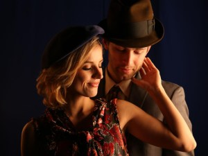 "Courtney Daniels and Trevor Shor star in the Curtis Theatre adaptation of the Tony Award-nominated ""Bonnie and Clyde: The Musical."" The production will open with a preview today and regular performances beginning Saturday through Feb. 20."