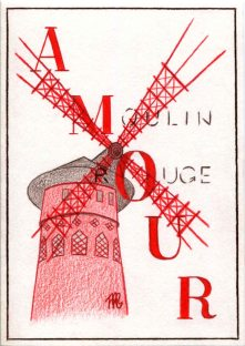 Illustrated postcards. Paris #3..