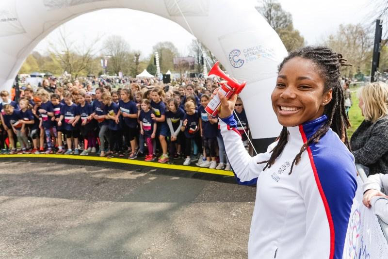 Children ready to run at the start of Brighton Marathon weekend mini mile