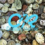 A pile of broken watches, overlaid by the Ordinary Runner logo