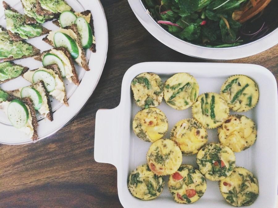 Crustless Summer Veggie Mini Quiches