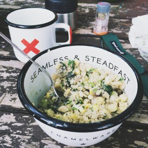 Quinoa Succotash for Camping -- The Organic Beauty