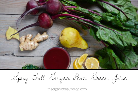 Organic-Beauty-ginger-pear-green-juice