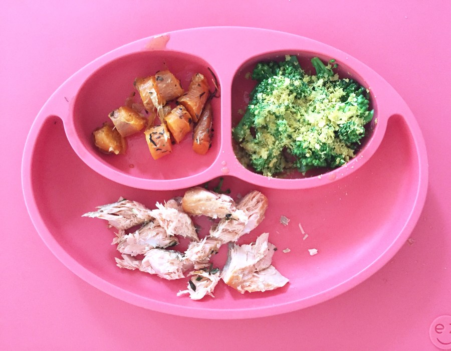 Toddler Meal: Salmon Broccoli and Tomatoes | The Organic Beauty Blog