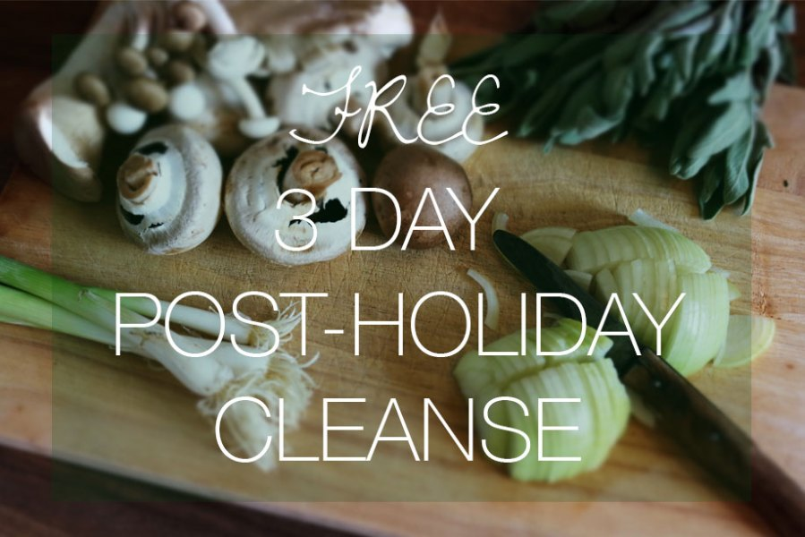 Free 3-Day Post Holiday Cleanse