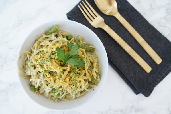 Spring Pasta with Peas, Asparagus, and Kale   The Organic Beauty Blog