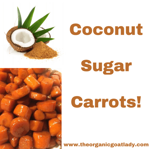 Coconut Sugar Carrots!