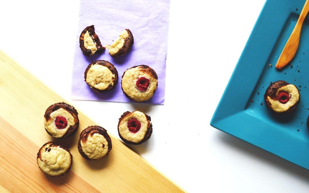 Mini Chocolate Peanut Butter Cakes (Gluten Free + Vegan)
