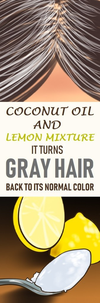 How To Use Coconut Oil And Lemon Juice For Gray Hair