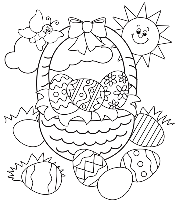 Free Easter Colouring Pages – The Organised Housewife   free printable easter coloring pages for kindergarten