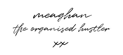 The organised hustler blog signature