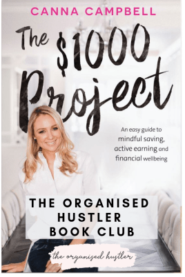Graphic of the $1000 project book cover