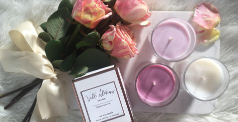 wild alchemy creation candles with pink roses