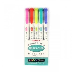 zebra mildliner bright and mild 5 pack