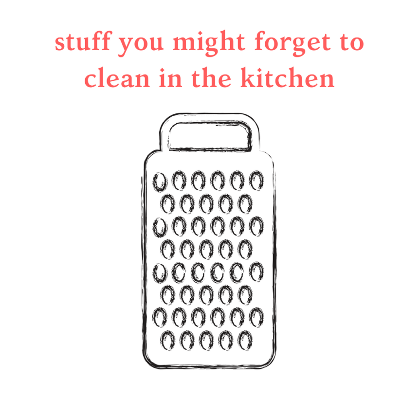 Top 5 things you might be forgetting to clean in the kitchen!