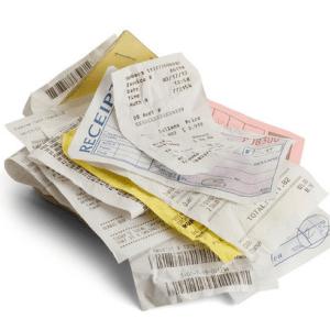 Paper Organization Receipts