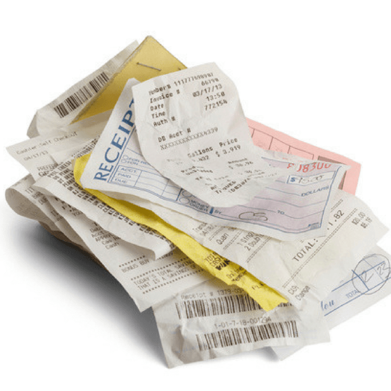 Paper Organization Receipts