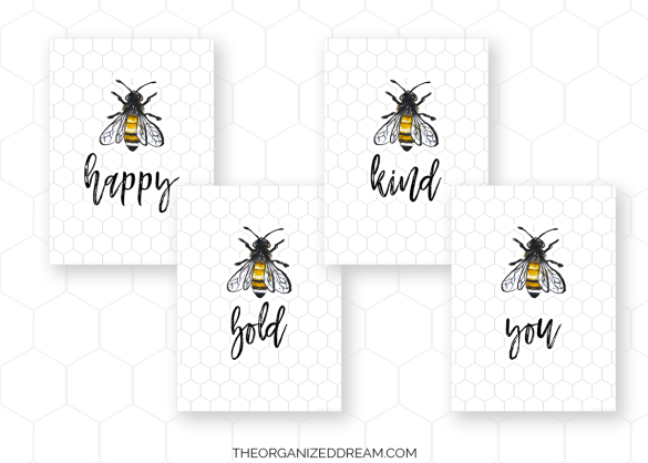 Free Farmhouse Bee Printanbles
