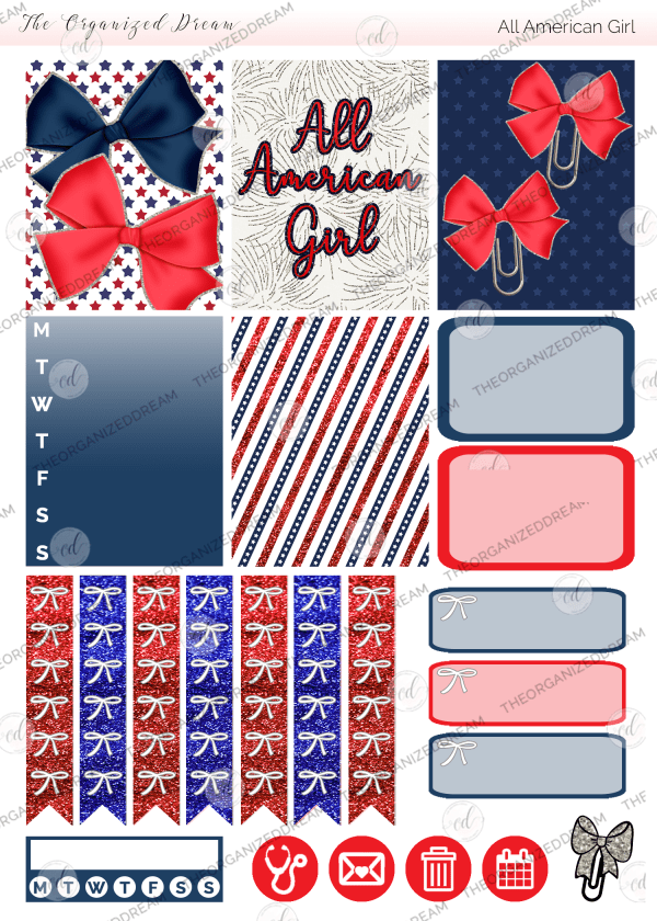 All American Girl Digital Sticker Kit