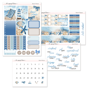Beach Please Digital Sticker Kit
