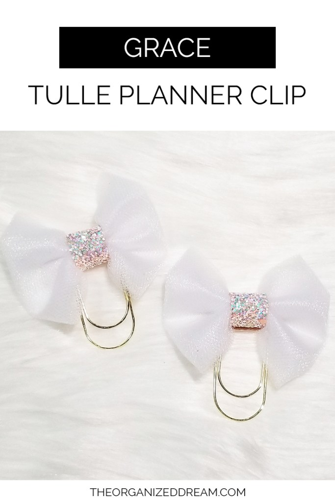 New Grace Tulle Planner Clips