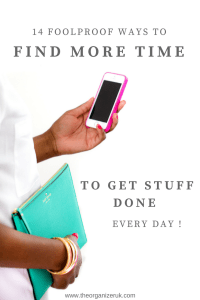 How to get more time to get stuff done.