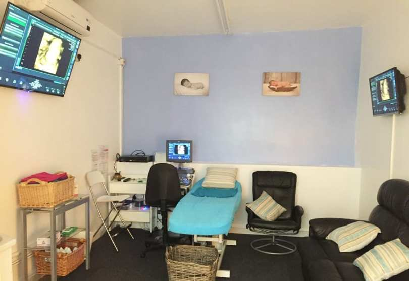 gender scan room at original window to the womb