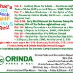 Orinda Park & Rec Feb 2019