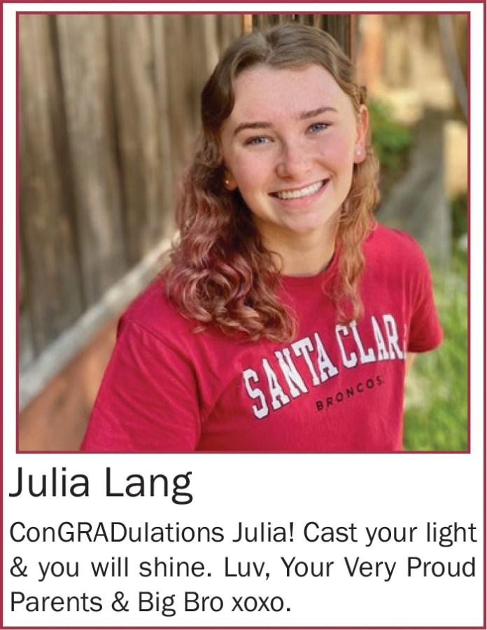 Julia Lang May 2020