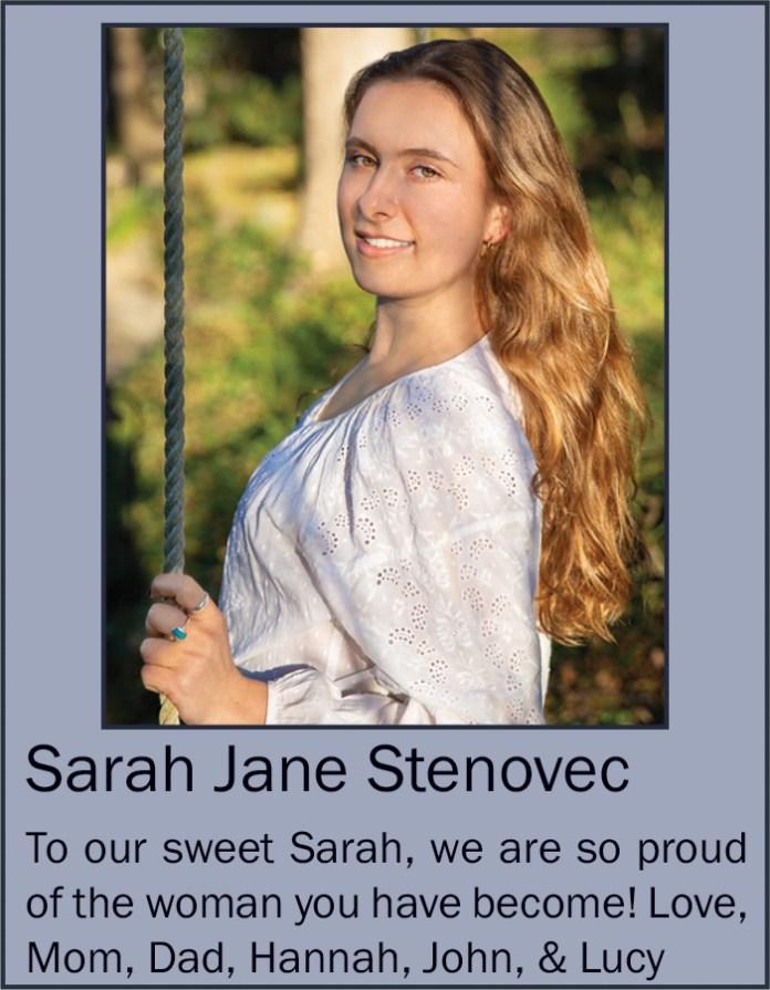 Sarah Jane Stenovec June 2020