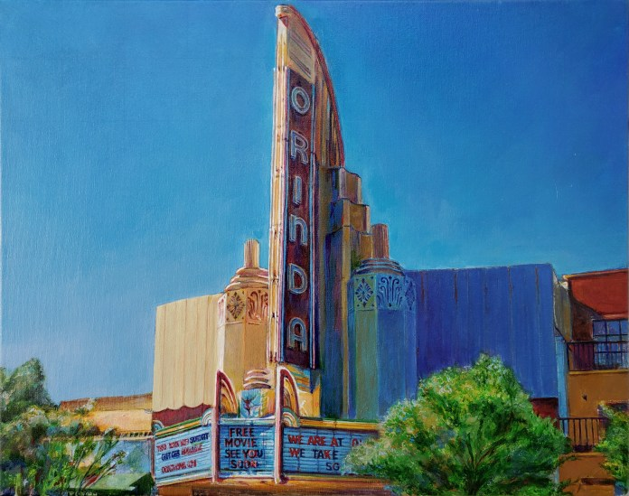 (Contributed Photo)The Orinda Theatre by Lance Jackson.