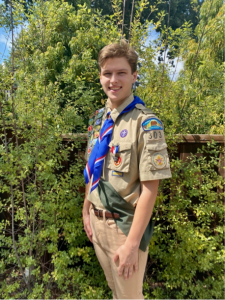 (Wendy Meckes, Photographer)Alex Meckes of Troop 303 in Orinda attained Scouts BSA's highest rank, Eagle Scout, on July 23, 2020. Due to COVID-19 delays, his formal recognition ceremony, the Eagle Court of Honor, took place on July 18, 2021 at Orinda Community Church.