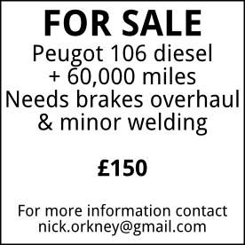 For sale - Peugot 106, £150